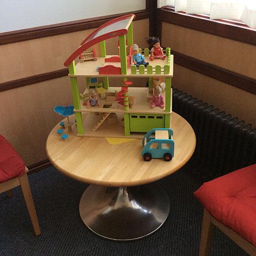 Centrum voor Kinderfysiotherapie - wachtruimte